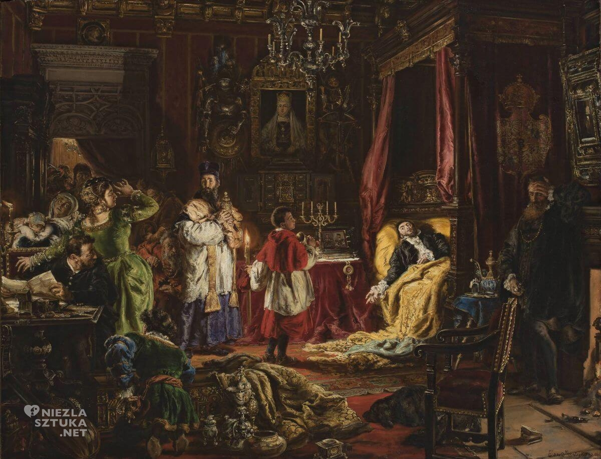 Jan Matejko, Śmierć Zygmunta Augusta w Knyszynie, Niezła sztuka