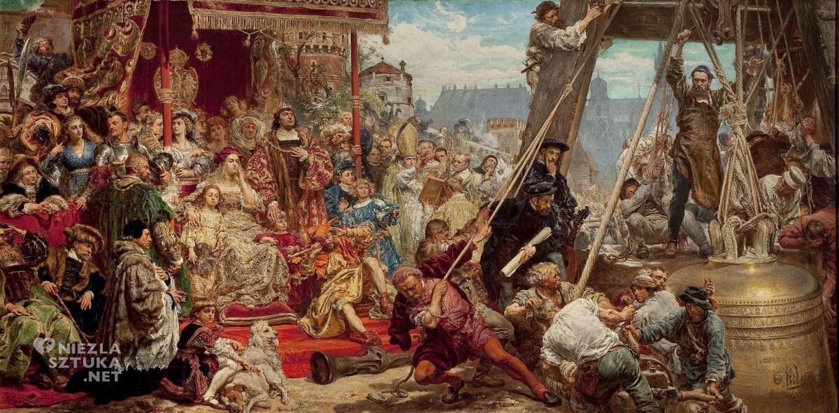 Jan Matejko, Zawieszenie dzwonu Zygmunta na wieży katedry w Krakowie w 1521, Niezła sztuka