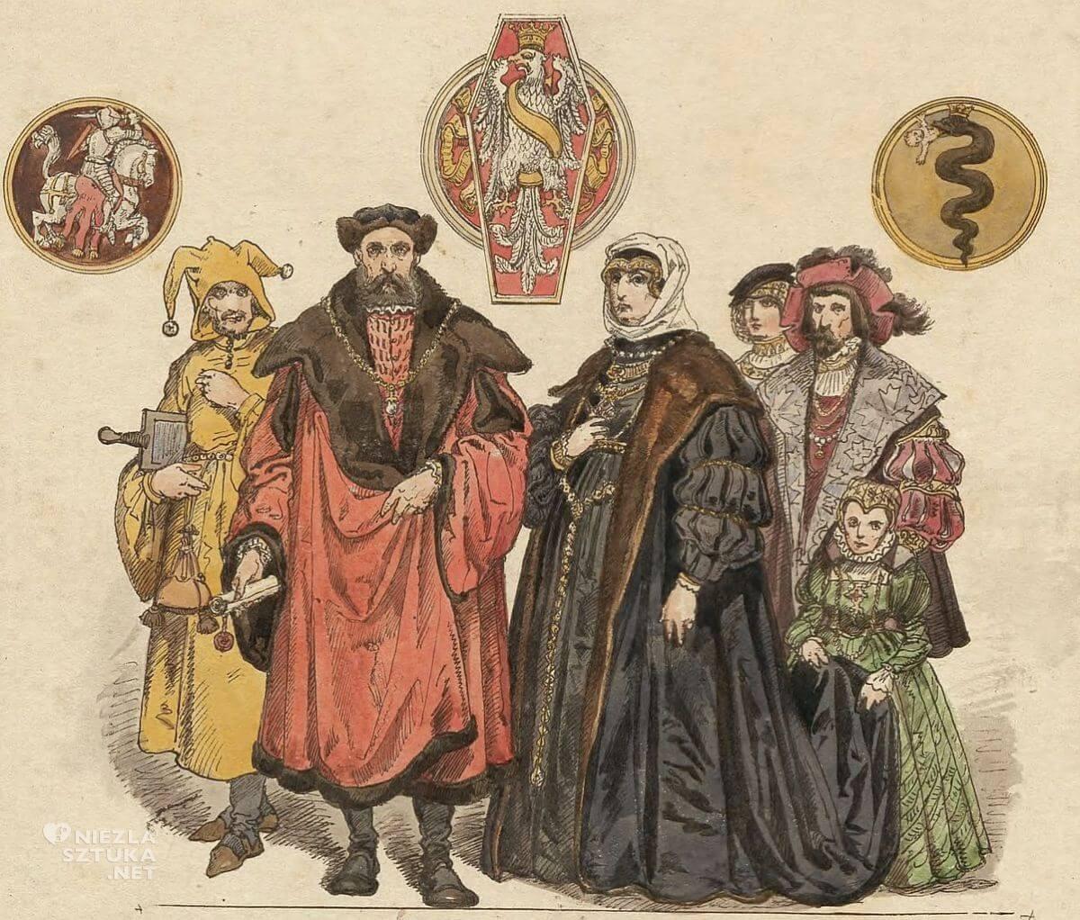 Jan Matejko, Zygmunt Stary, Bona Sforza, ubiory w Polsce, Niezła sztuka