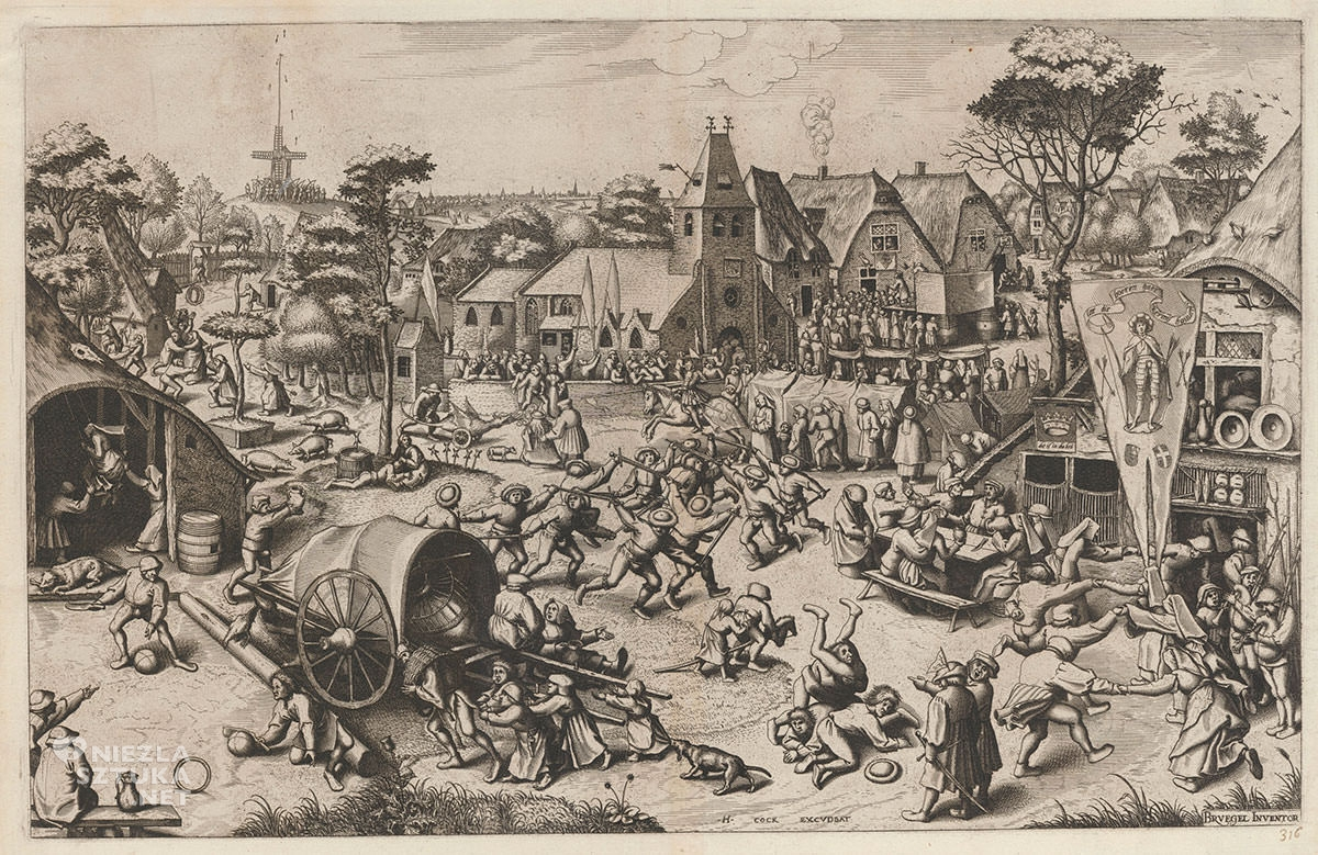 Pieter Bruegel Starszy, kiermasz św. jerzego, grafika, Niezła sztuka