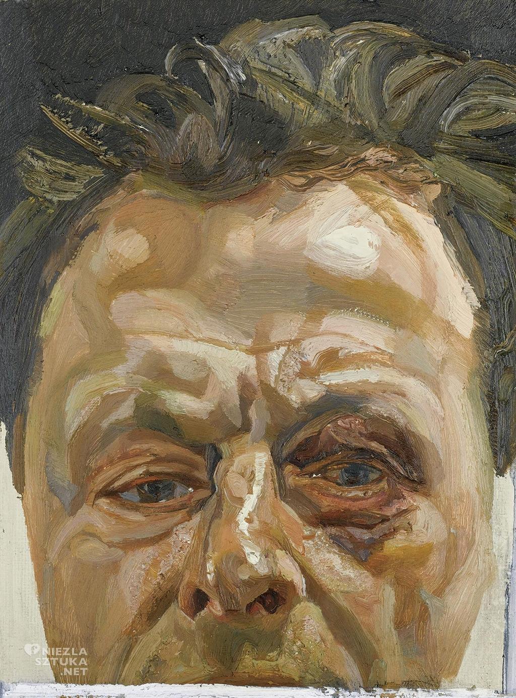 Lucian Freud, Autoportret , sztuka brytyjska, Niezła sztuka