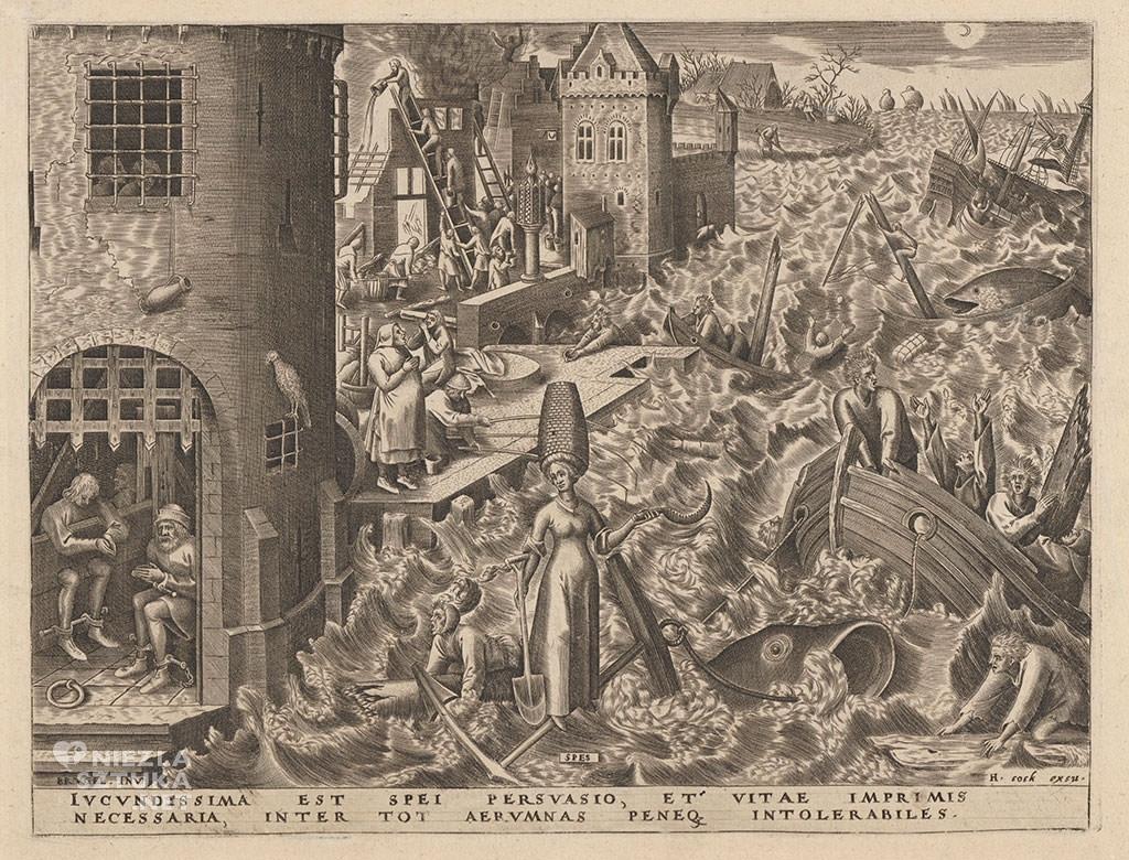 Pieter Bruegel Starszy, nadzieja, spes, alegoria, grafika, Niezła sztuka