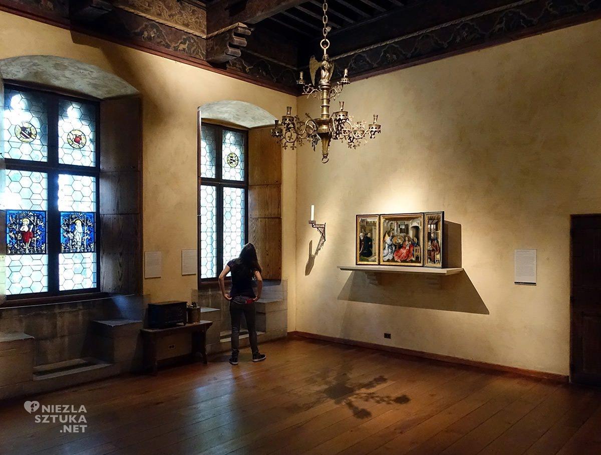Robert Campin, Ołtarz Mérode, Zwiastowanie, sztuka niderlandzka, Niezła sztuka, Nowy Jork