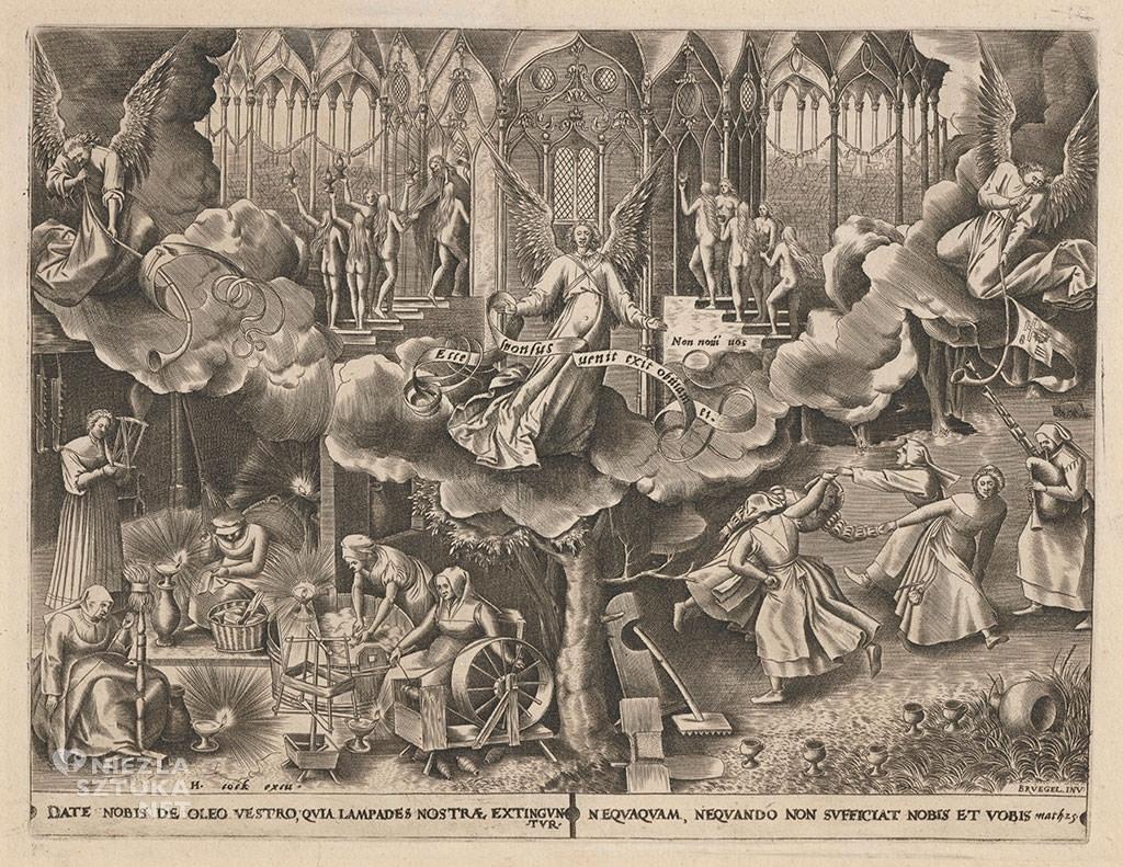 Pieter Bruegel Starszy, Panny mądre i głupie, grafika, Niezła sztuka