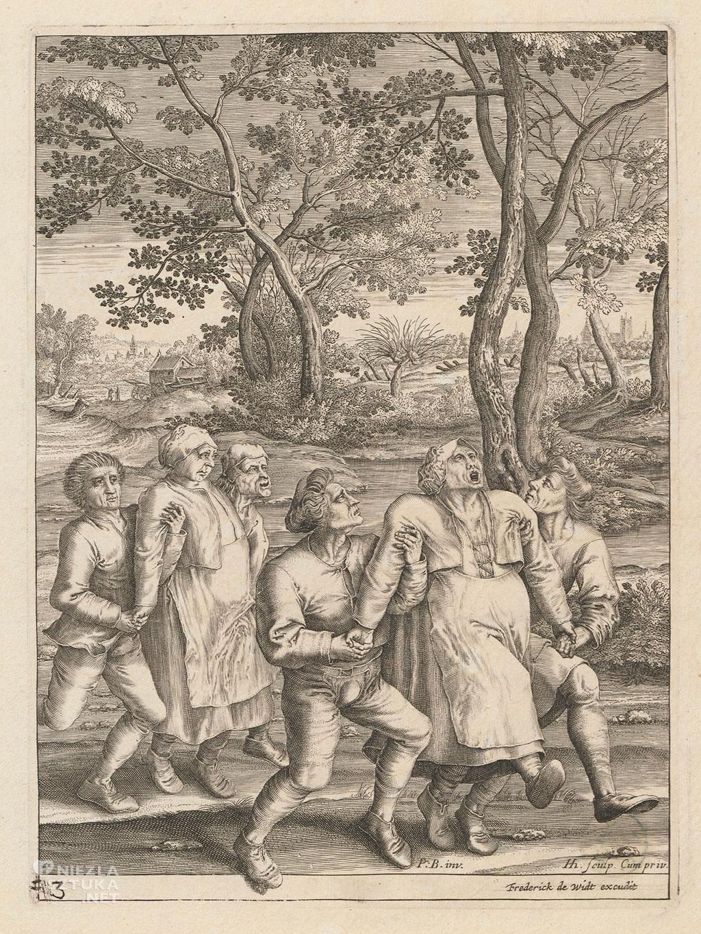 Pieter Bruegel Starszy, Pielgrzymka epileptyczek, grafika, Niezła sztuka