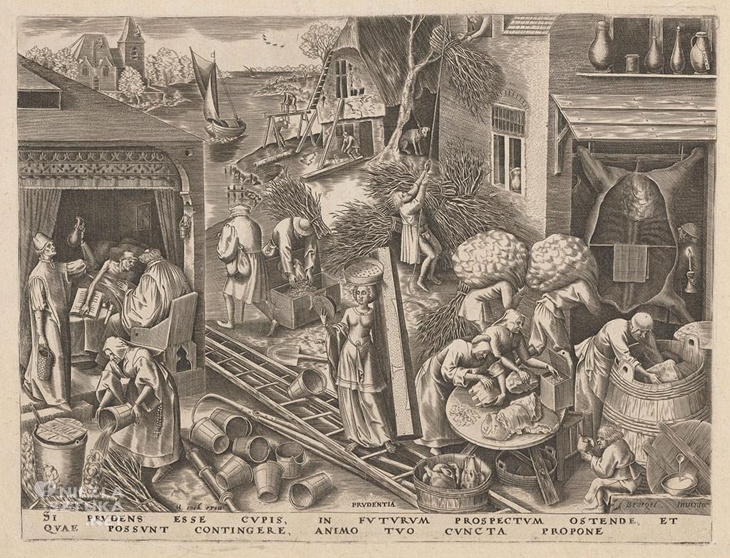 Pieter Bruegel Starszy, roztropność, prudentia, alegoria, grafika, Niezła sztuka