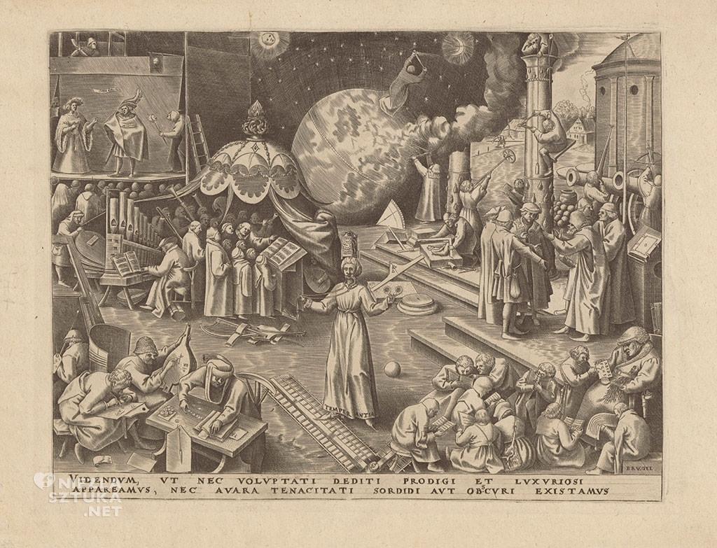 Pieter Bruegel Starszy, grafika, miedzioryt, alegoria, Temperantia, Niezła Sztuka