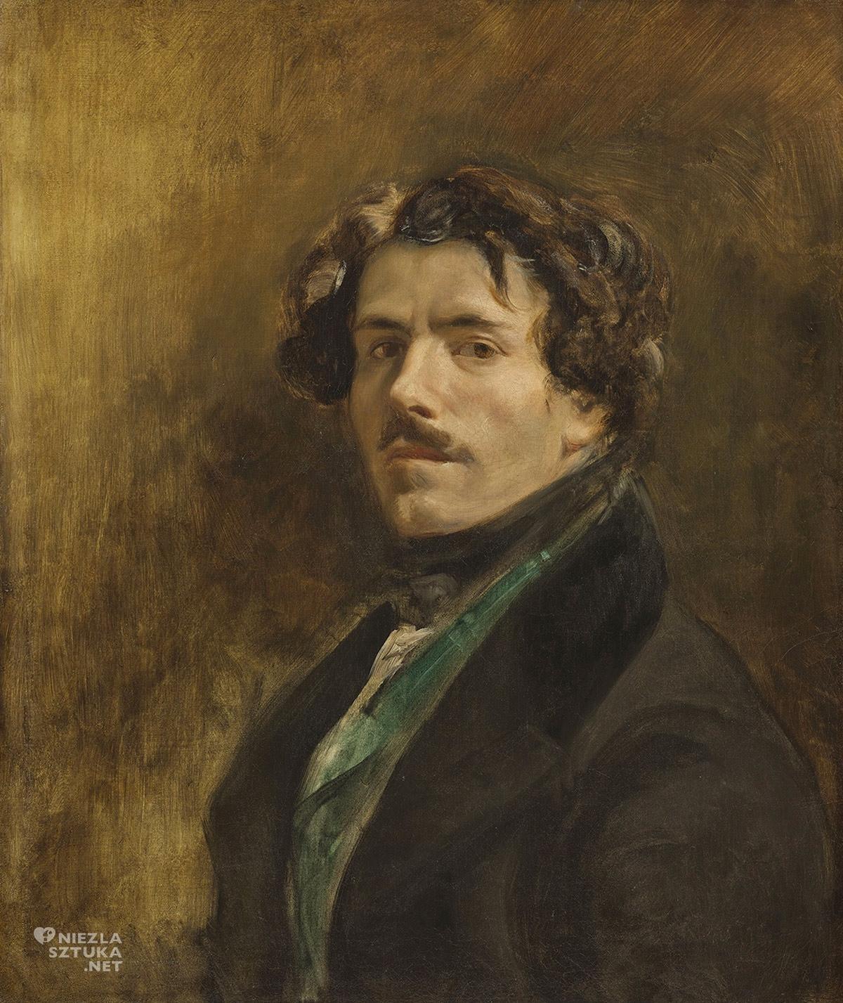 Eugène Delacroix, Autoportret, Luwr, Paryż, Niezła sztuka