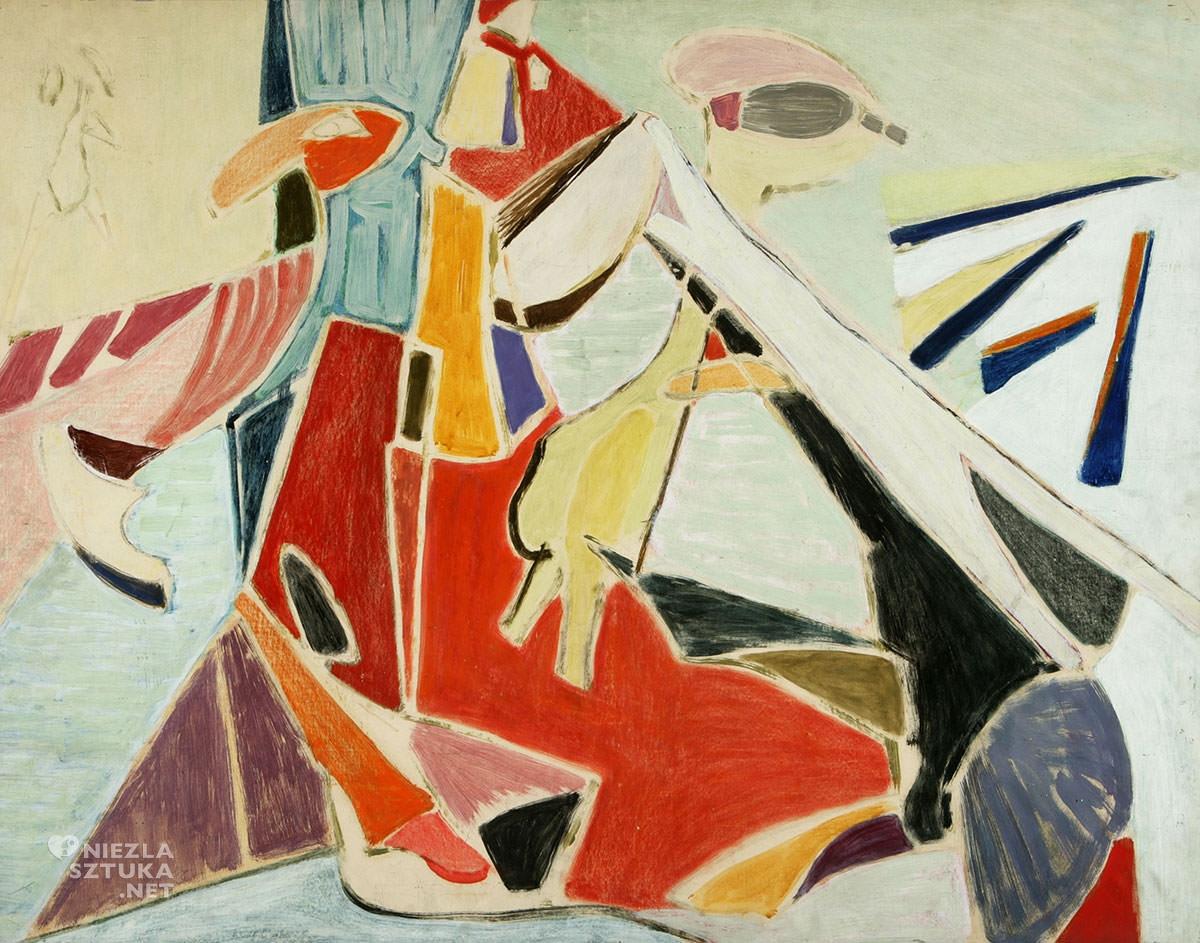 Maria Jarema, obraz, Zwierzęta, Niezła Sztuka