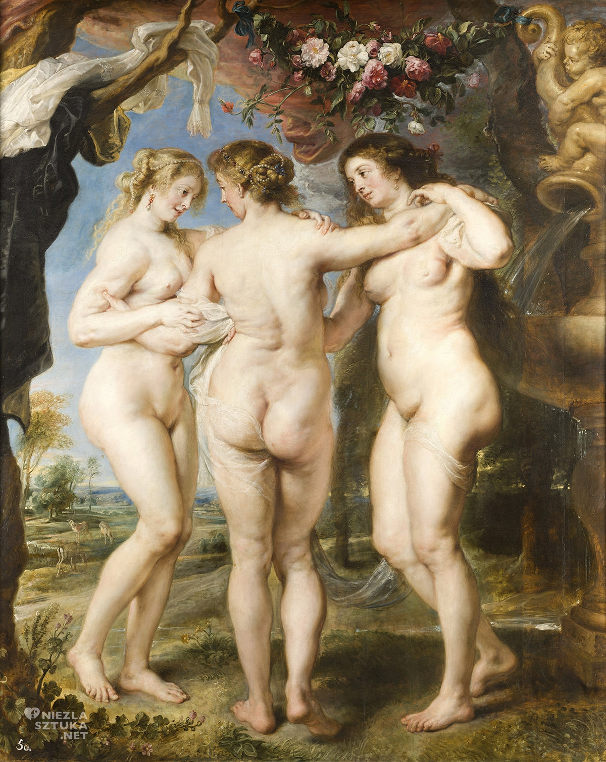 Peter Paul Rubens, Trzy Gracje, sztuka flamandzka, Niezła sztuka
