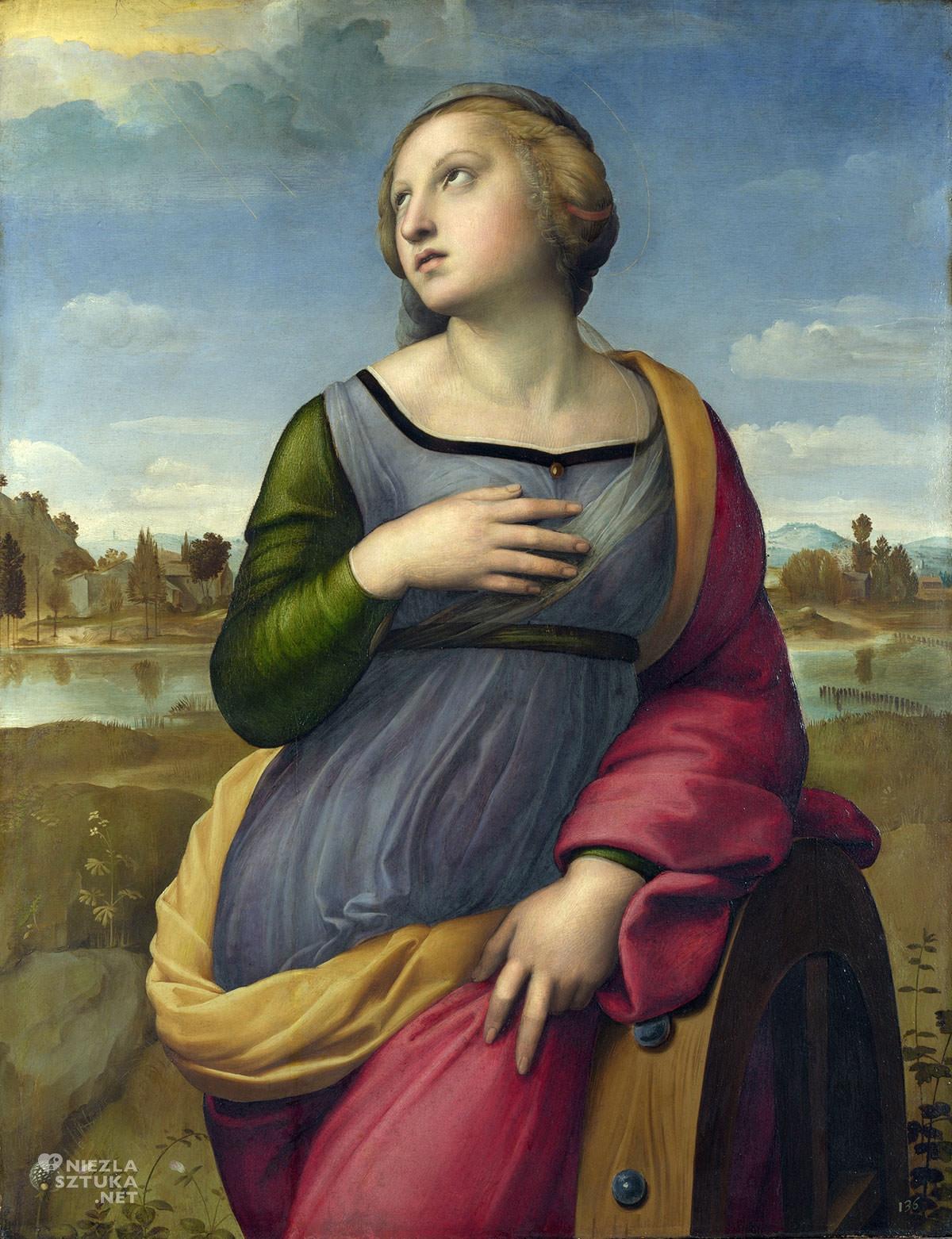 Rafael Santi, Święta Katarzyna Aleksandryjska, święci w sztuce, Niezła Sztuka