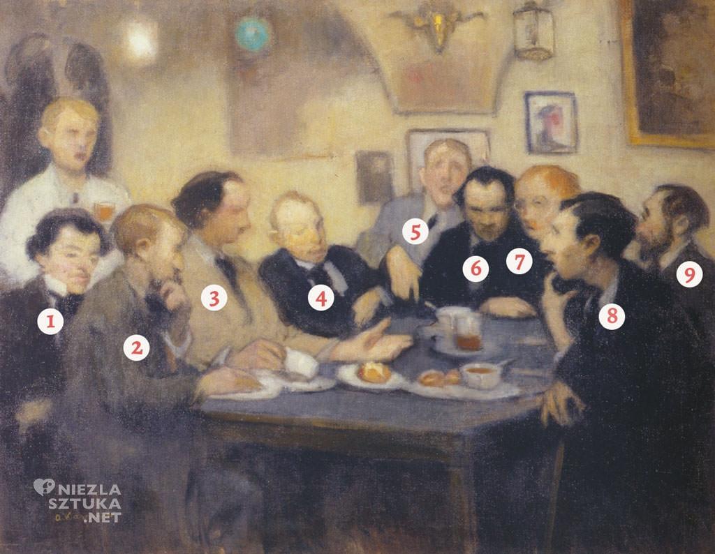 Alfons Karpiński, Portret malarzy w Jamie Michalikowej, Jama Michalikowa, polska sztuka, sztuka polska, Muzeum Narodowe we Wrocławiu, Niezła sztuka