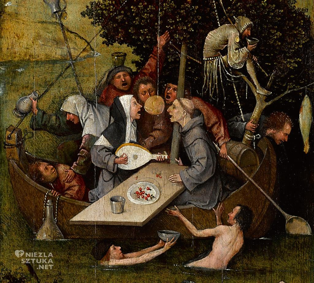 Hieronim Bosch, Statek szaleńców, statek głupców, prymitywiści flamandzcy, prymitywiści niderlandzcy, statek głupców, renesans północny, Niezła Sztuka