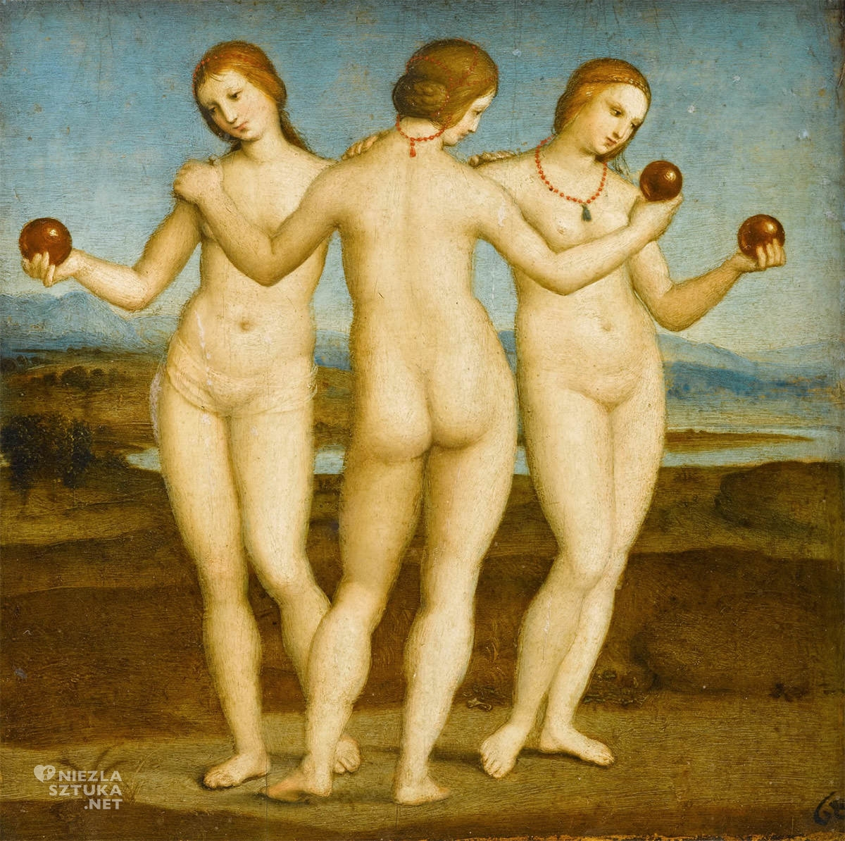Rafael Santi, Trzy Gracje, sztuka włoska, Niezła sztuka