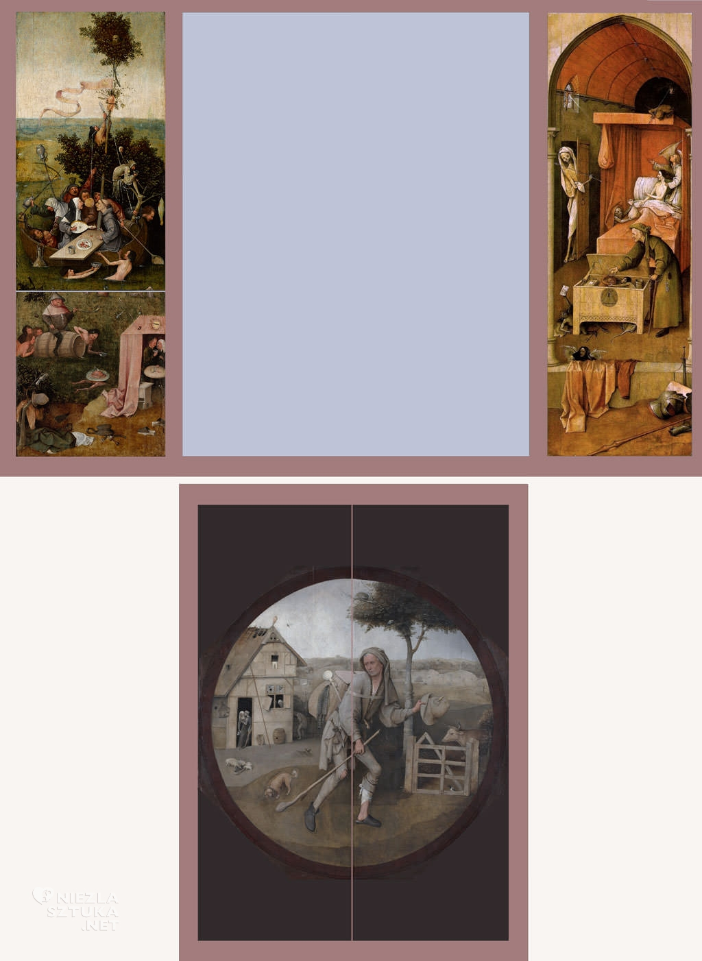 Hieronim Bosch, tryptyk, statek głupców, Niezła sztuka
