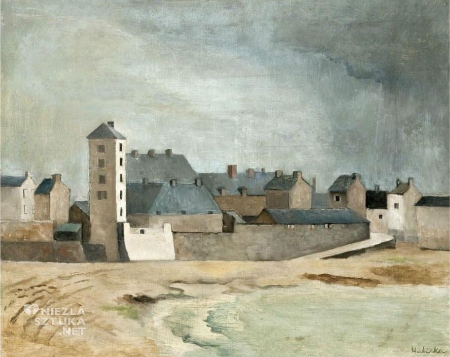 Alicja Halicka, Pejzaż (Kerity), sztuka polska, Niezła Sztuka, Ecole de Paris