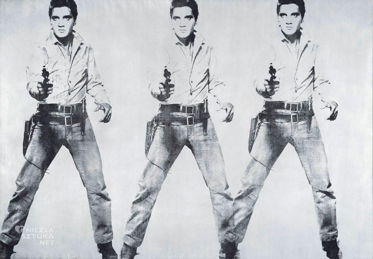 Andy Warhol, Triple Elvis, Elvis Presley, pop-art, Niezła Sztuka