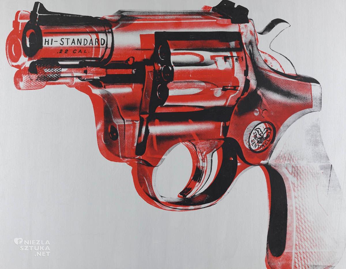 Andy Warhol, broń, pop-art, Niezła Sztuka