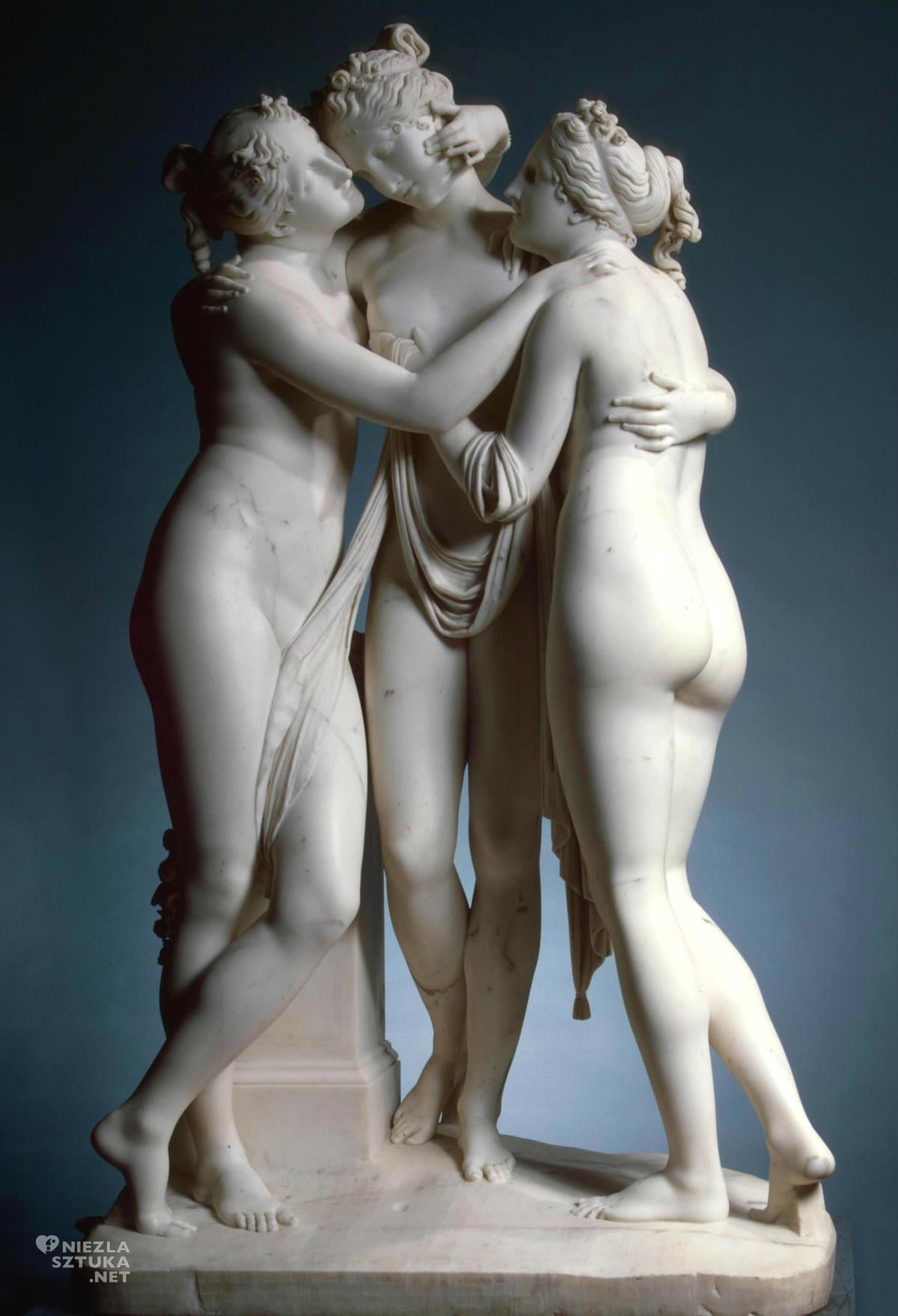 Antonio Canova, Trzy Gracje, rzeźba, sztuka włoska, Niezła sztuka