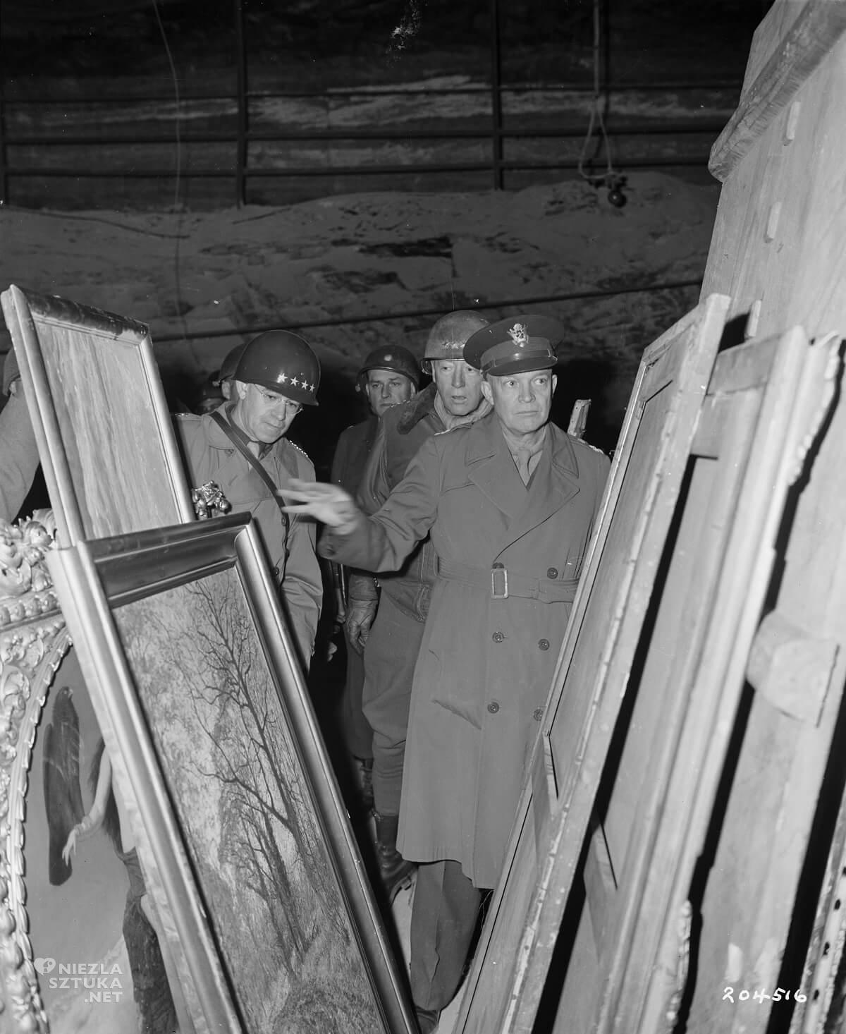 Eisenhower wizytuje kopalnię, 1945, fot. wikipedia