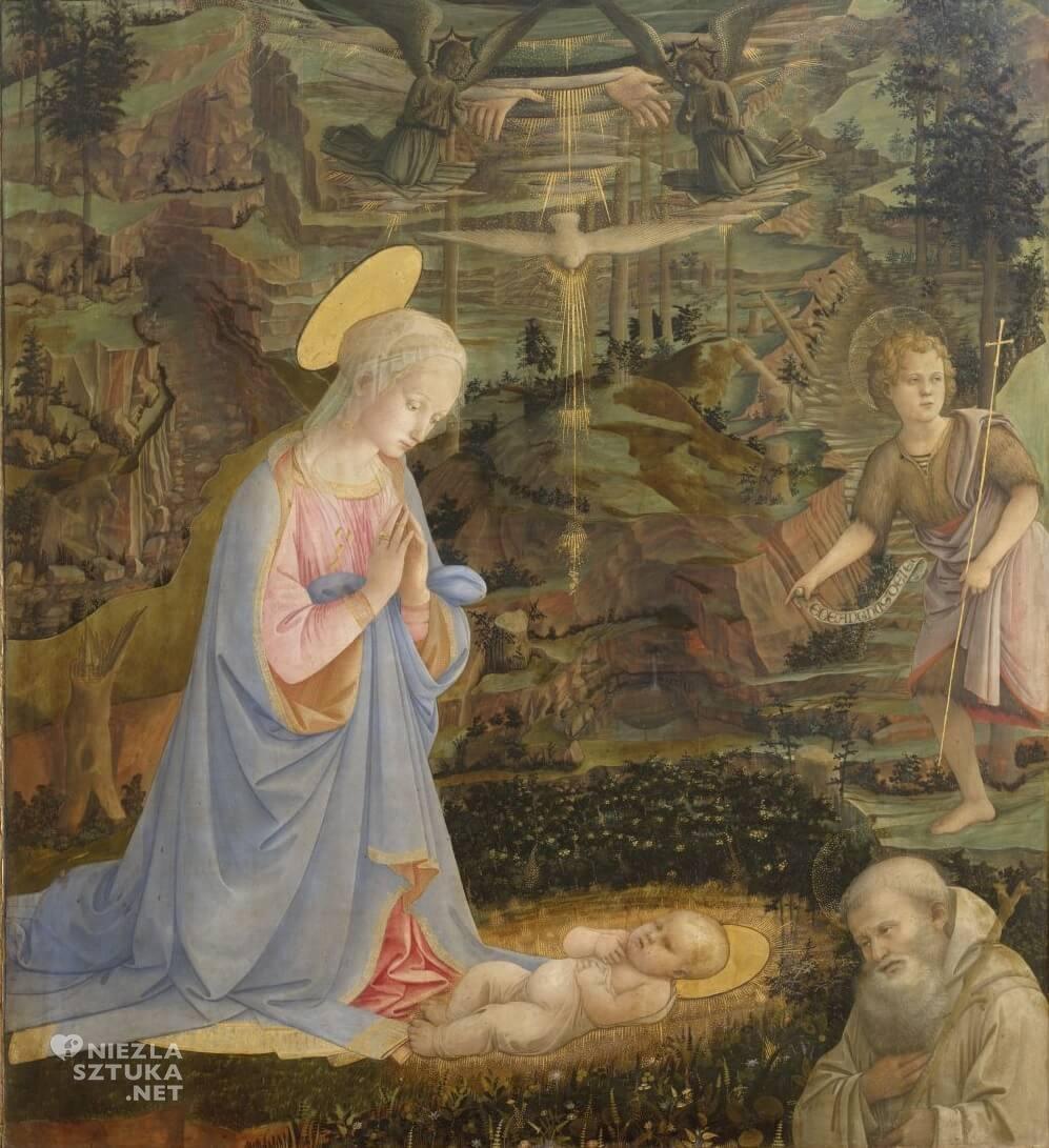Fra Filippo Lippi, Adoracja, Uffizi, Galleria degli Uffizi, Florencja, Niezła sztuka
