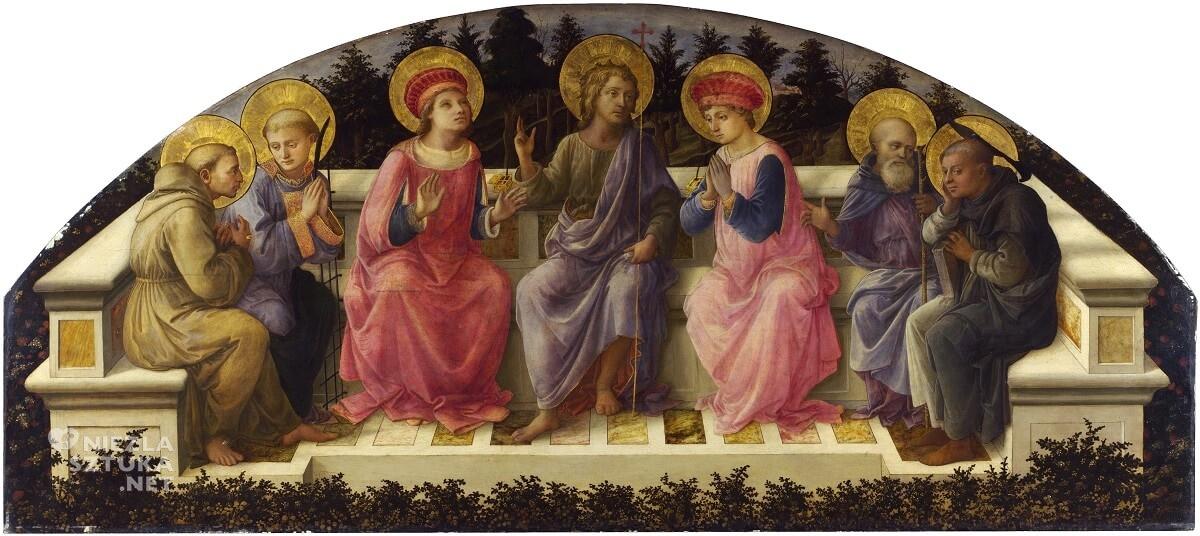 Fra Filippo Lippi, Siedmiu świętych, Autoportret, Niezła sztuka