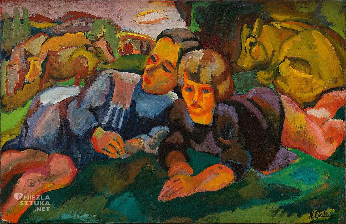 Henryk Epstein, Pastuszkowie, scena rodzajowa, Ecole de Paris, Niezła Sztuka