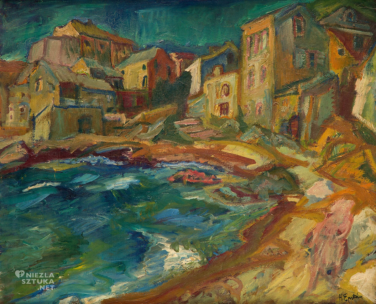 Henryk Epstein, Saint Tropez, Ecole de Paris, pejzaż, Niezła Sztuka