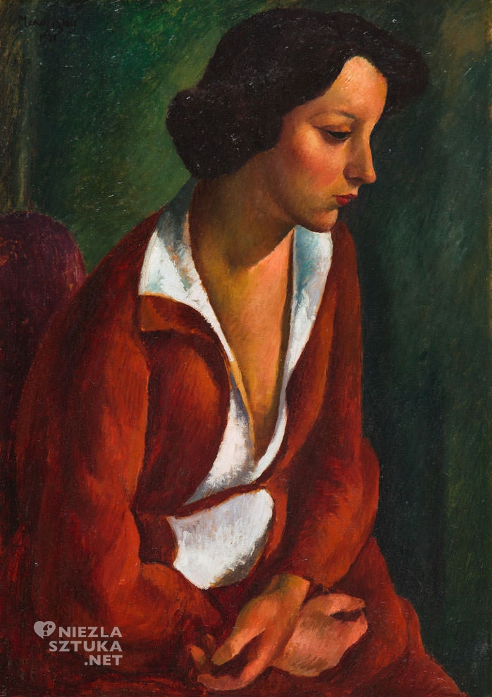 Maurycy Mędrzycki, Kiki de Montparnasse, portret, Ecole de Paris, sztuka polska, Niezła Sztuka
