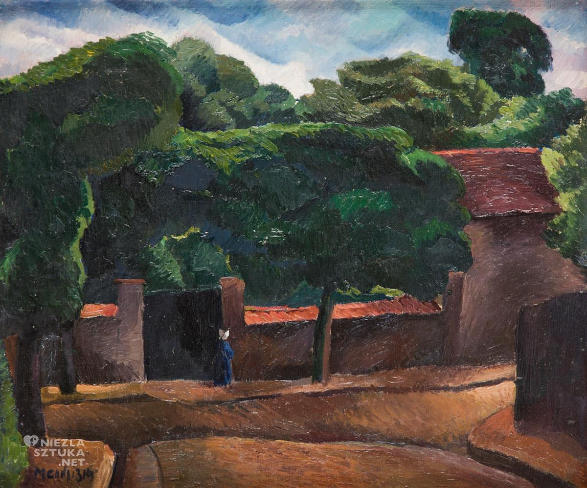 Maurycy Mędrzycki, Paysage, Niezła Sztuka, Ecole de Paris, Villa La Fleur, sztuka polska, pejzaż