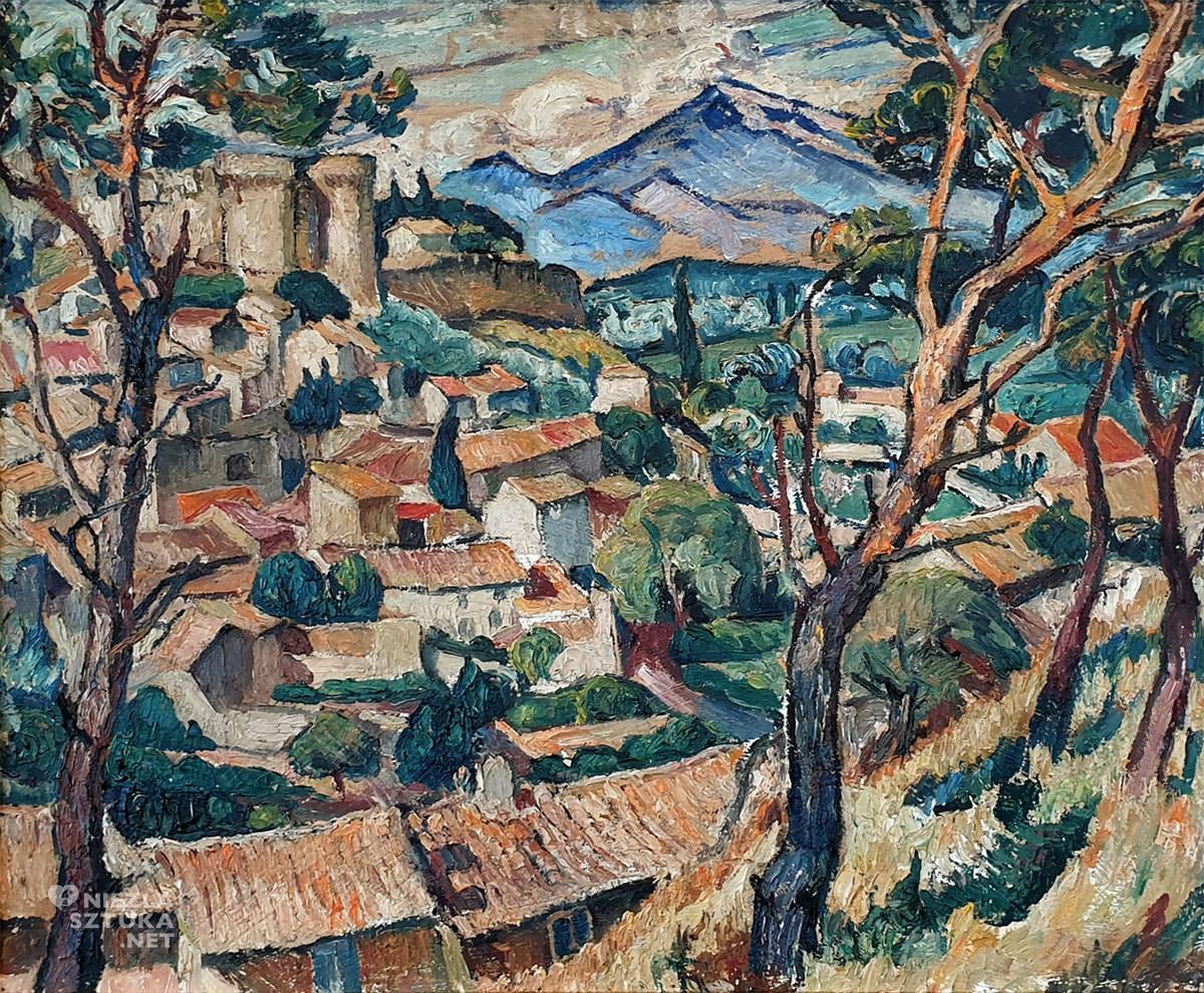 Mela Muter, Fort Saint Andre et palais des Papes, malarstwo polskie, Ecole de Paris, pejzaż, Niezła Sztuka, Villa La Fleur