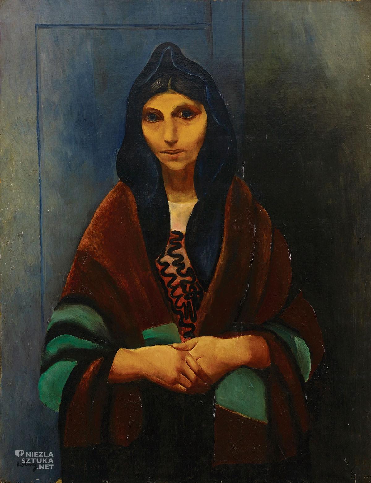 Mojżesz Kisling, Żydówka, portret, Ecole de Paris, Villa La Fleur, Niezła Sztuka, portret