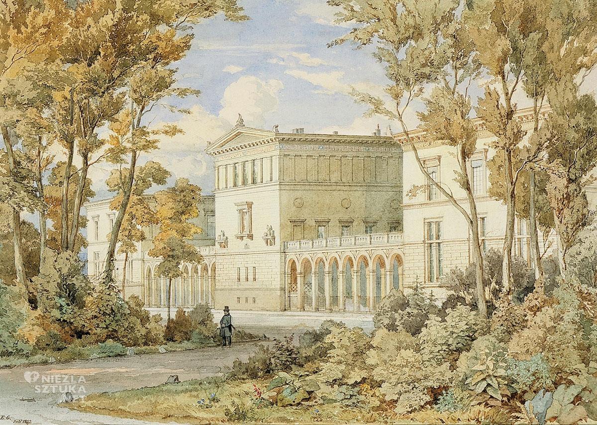 Pałac Raczyńskich w Berlinie, Atanazy hrabia Raczyński, Niezła sztuka