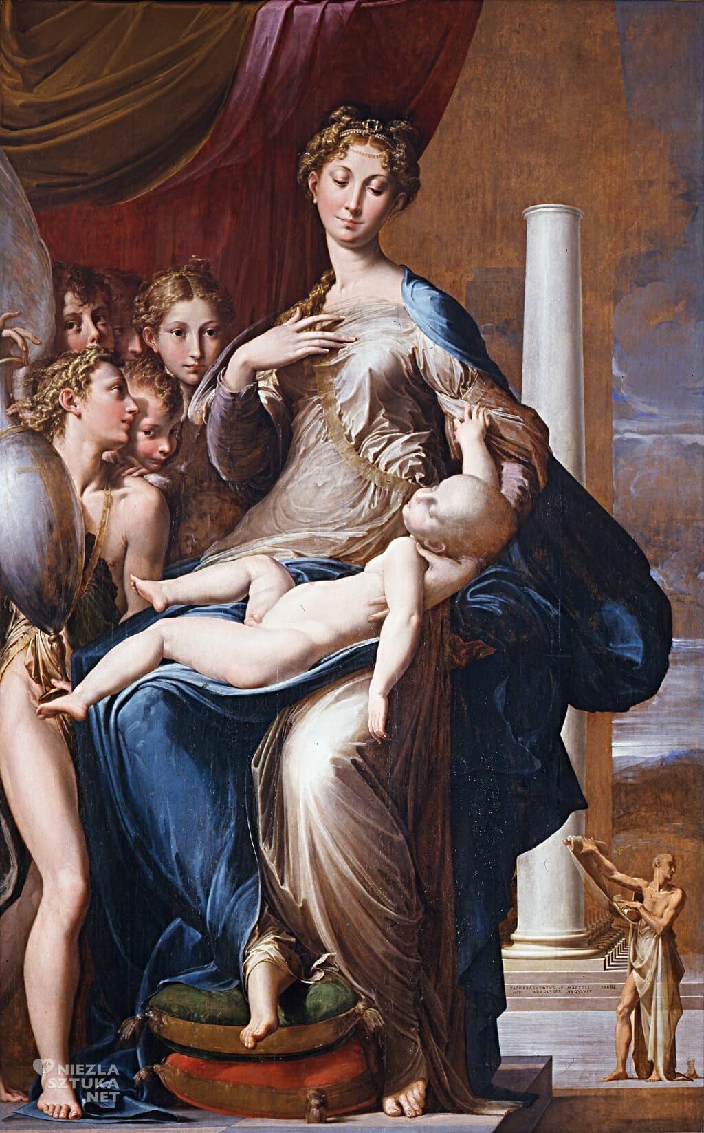 Parmigianino, Madonna z długą szyją, Uffizi, Niezłą sztuka