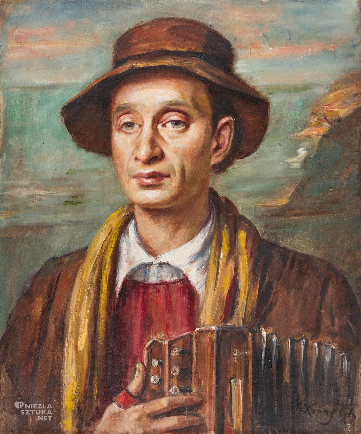 Roman Kramsztyk, Portret Leona Weissberga, Villa La Fleur, portret, Niezła Sztuka, sztuka polska, Ecole de Paris
