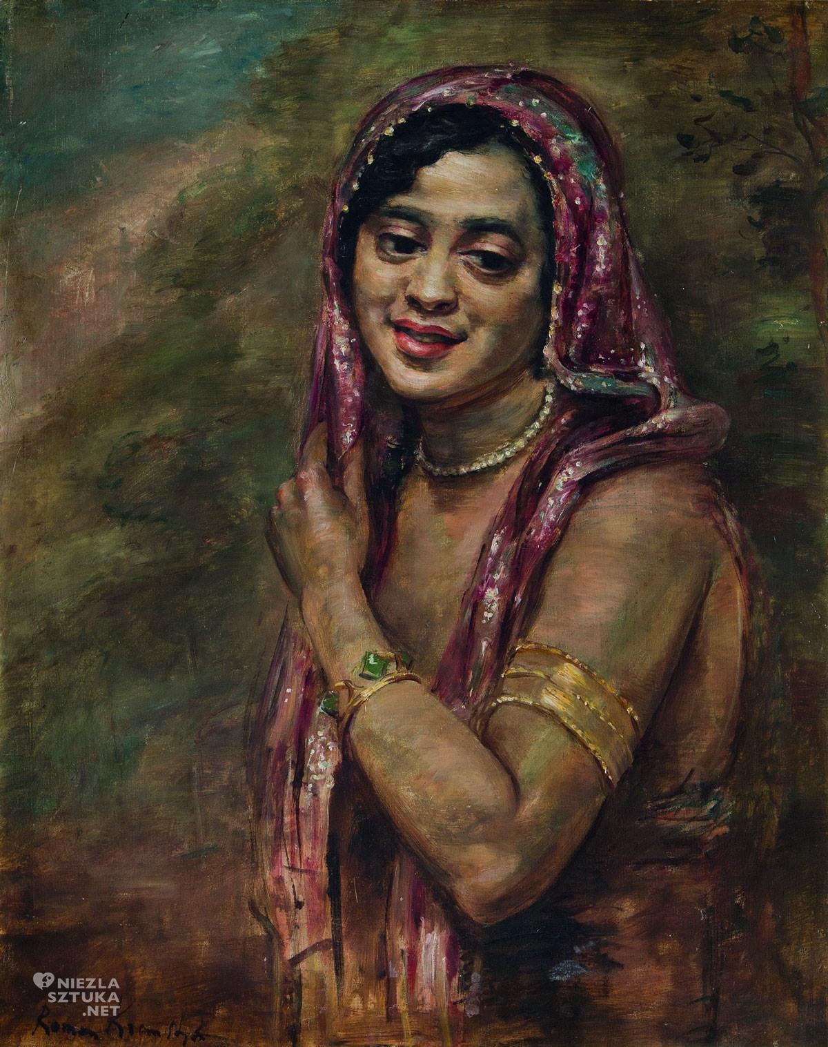 Roman Kramsztyk, Portret kobiety w chustce, Ecole de Paris, portret, sztuka polska, Niezła Sztuka