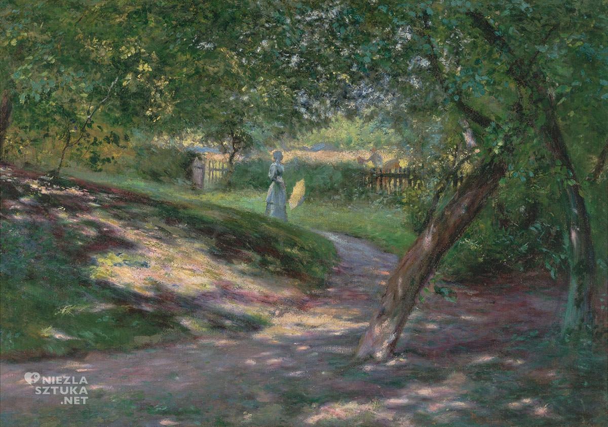 Władysław Podkowiński, W ogrodzie, Muzeum Śląskie, Niezła sztuka