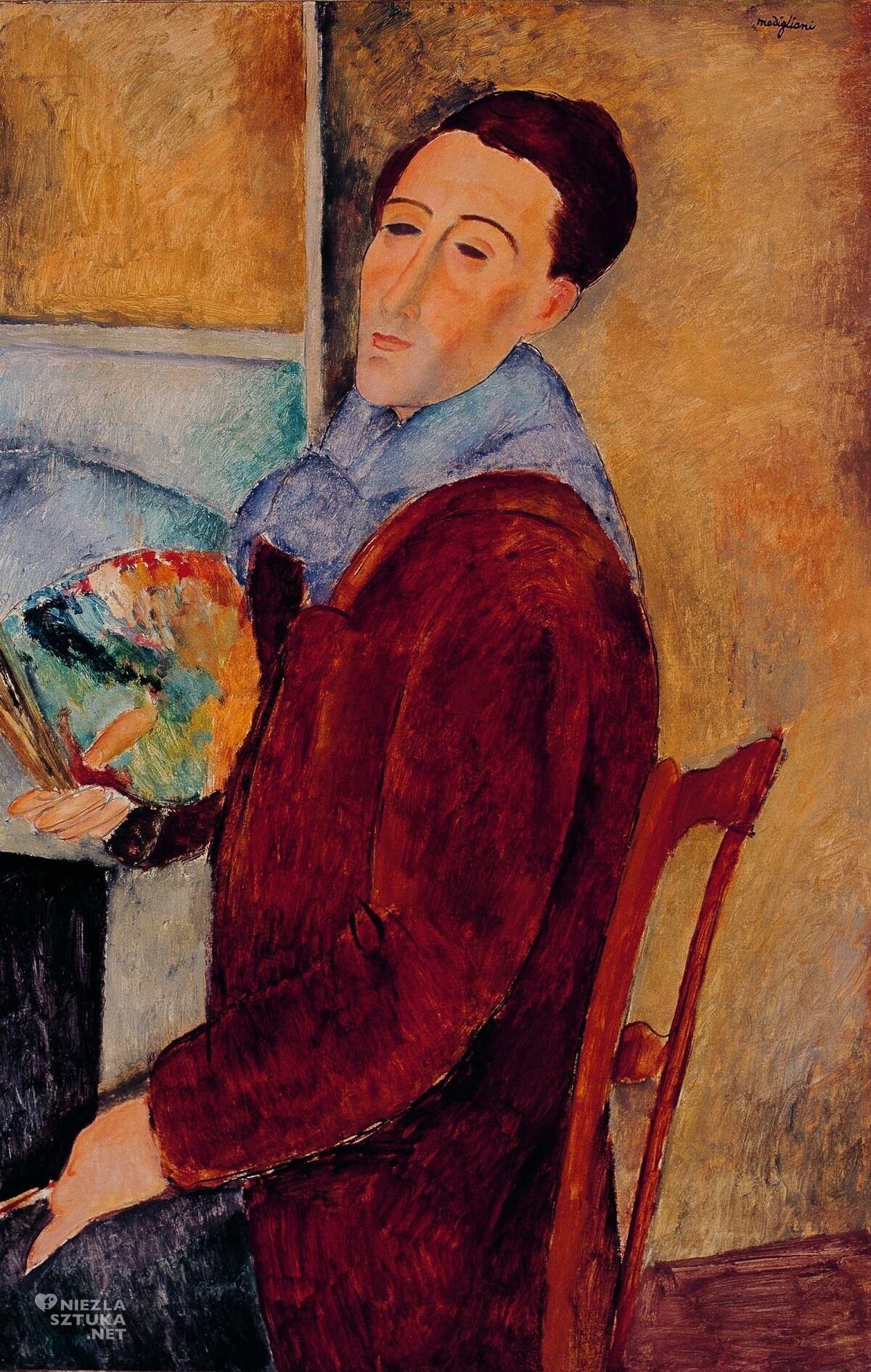 Amedeo Modigliani, Autoportret, malarz, Niezła sztuka