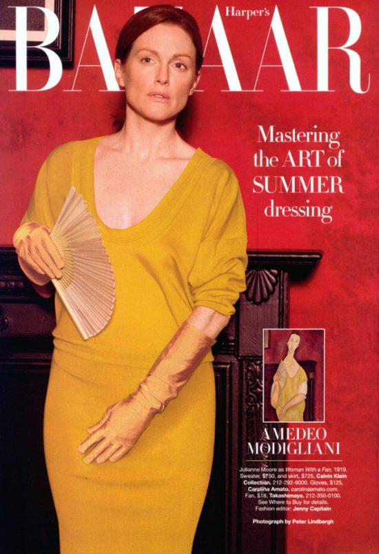 Julianne Moore, Harper's Bazaar, Peter Lindbergh, Modigliani, Niezła sztuka