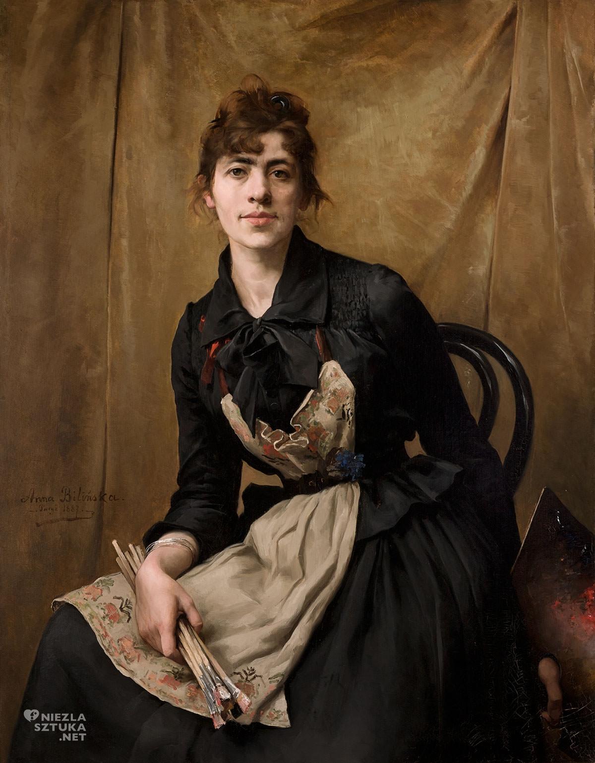 Anna Bilińska, Anna Bilińska-Bohdanowicz, Autoportret, Autoportret z paletą, Muzeum Narodowe w Krakowie, Niezła sztuka