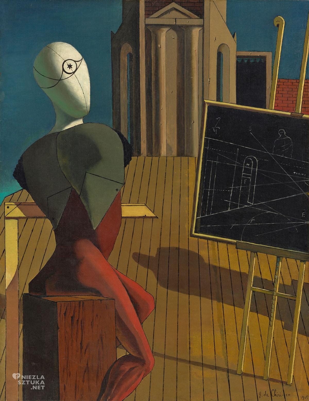 Giorgio de Chirico, Jasnowidz, sztuka włoska, malarstwo włoskie, surrealizm włoski, malarstwo metafizyczne, początek surrealizmu, modernizm, Niezła Sztuka