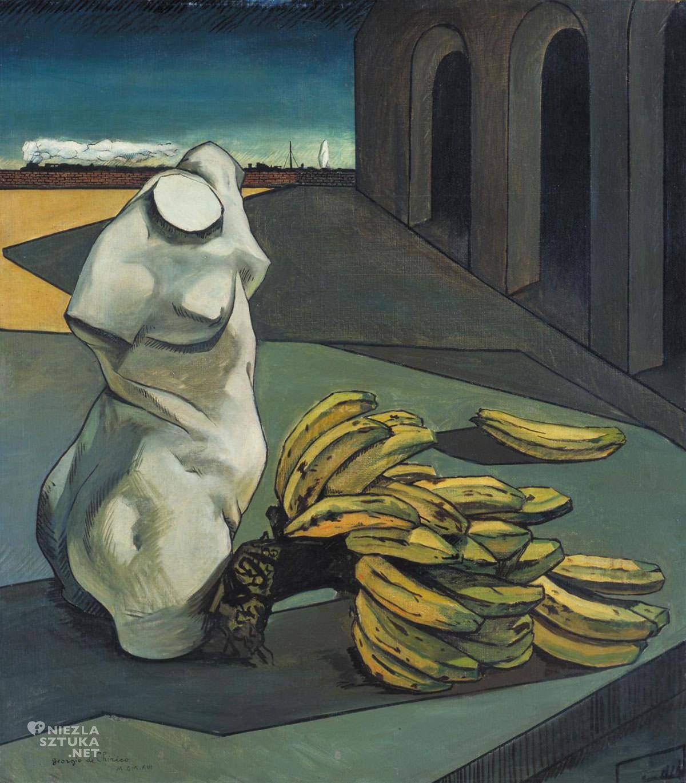 Giorgio de Chirico, Niepewność poety, malarstwo metafizyczne, pictura metafisica, surrealizm, początek surrealizmu, modernizm, Niezła Sztuka