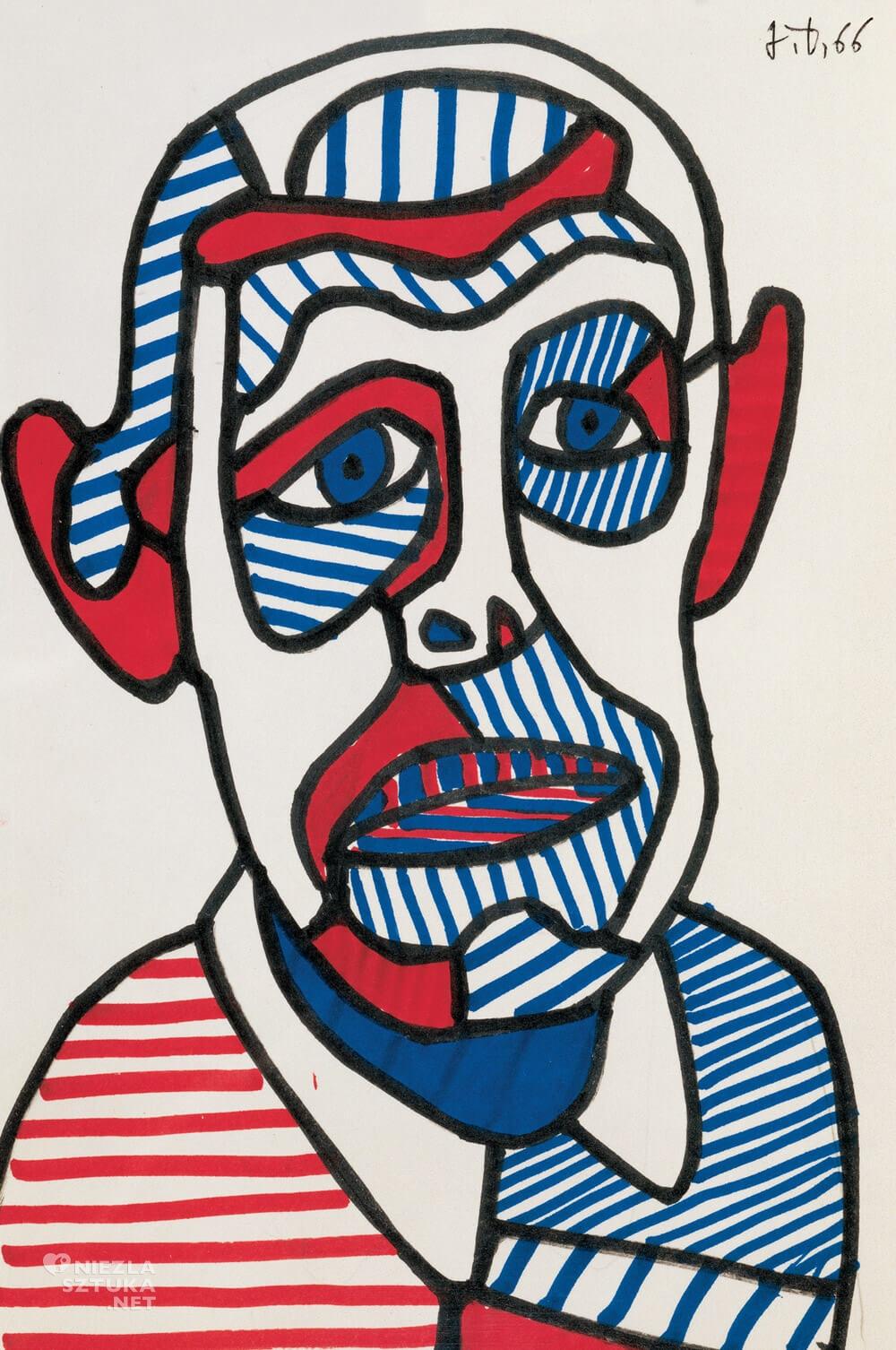 Jean Dubuffet, autoportret, malarz, rzeźbiarz, sztuka francuska, Niezła sztuka