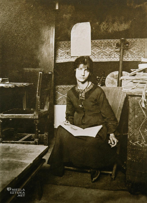 Amedeo Modigliani, Jeanne Hebuterne w żółtym swetrze, sztuka włoska, malarstwo olejne, portret, ekspresjonizm, sztuka nowoczesna, Ecole de Paris, Niezła Sztuka