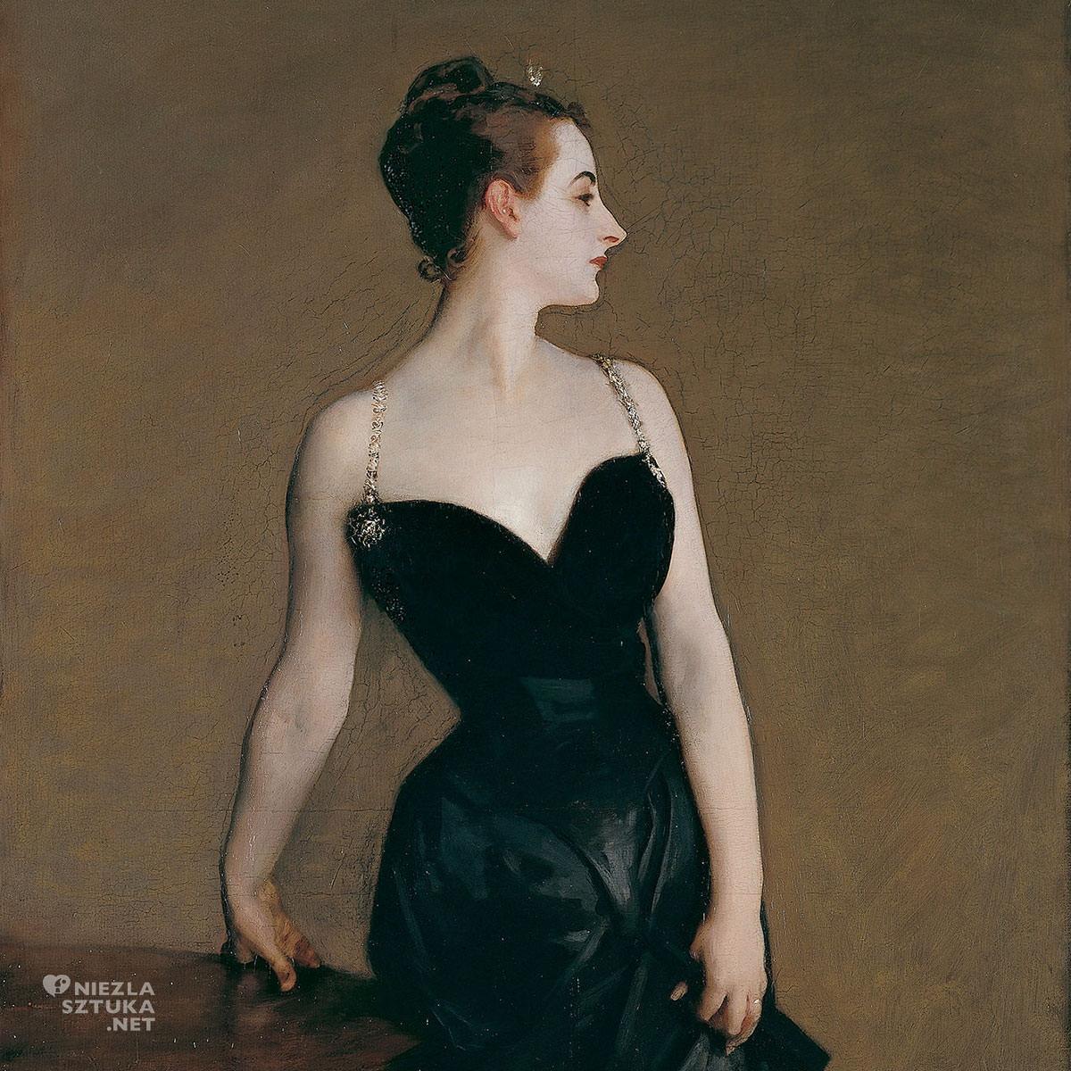 John Singer Sargent, Portret Madame X Madame Pierre Gautreau John Singer Sargent Metropolitan Museum of Art, MET, Nowy Jork, Niezła sztuka