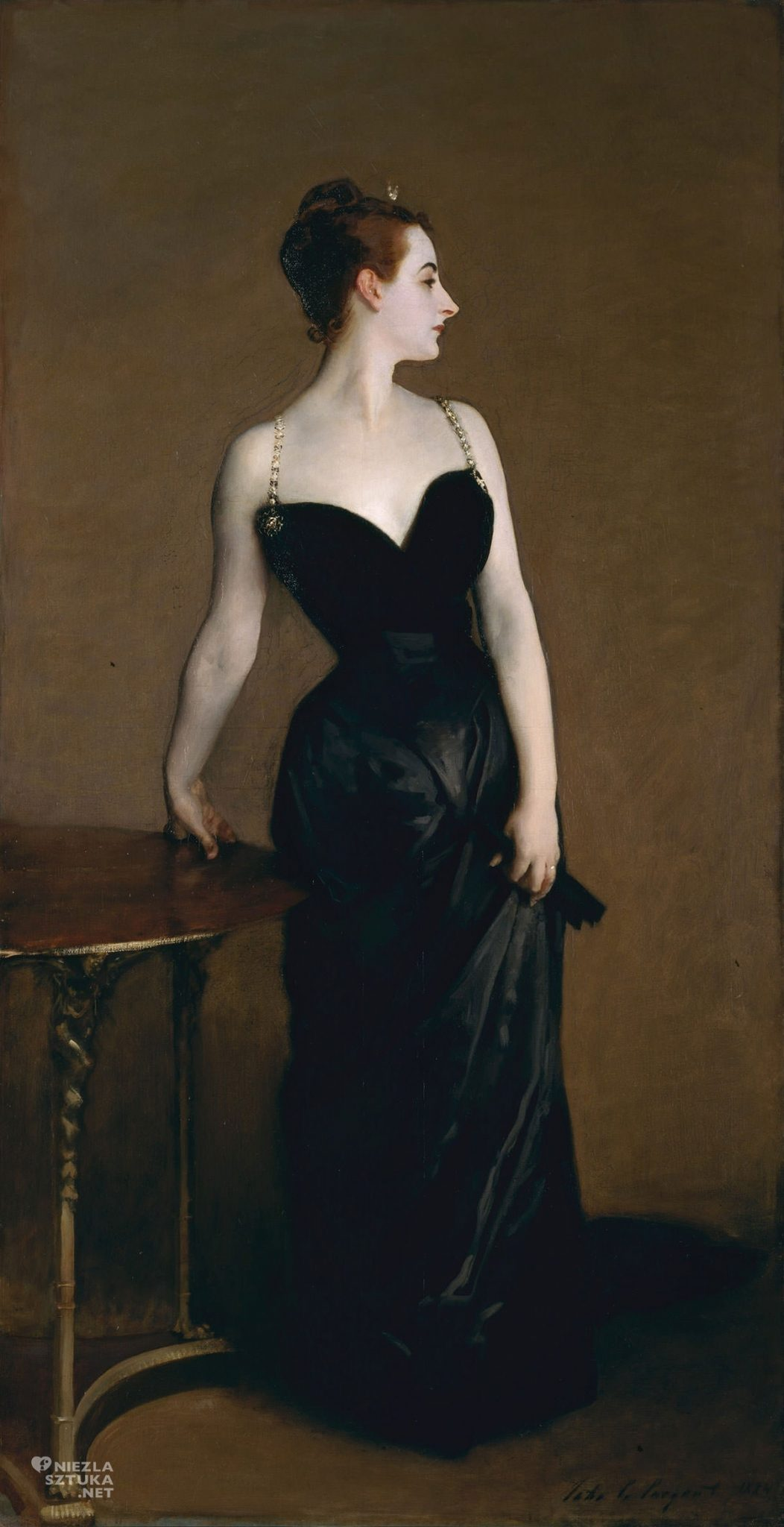 Portret Madame X Madame Pierre Gautreau John Singer Sargent Metropolitan Museum of Art, MET, Nowy Jork, Niezła sztuka