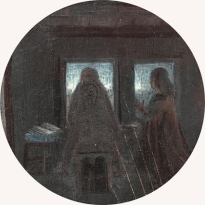 Hans Memling, dyptyk, lustro, Dyptyk Maartena van Nieuwenhove, Brugia, odbicie w lustrze, odbicie, sztuka niderlandzka, malarstwo niderlandzkie, arcydzieło do kawy, Niezła sztuka