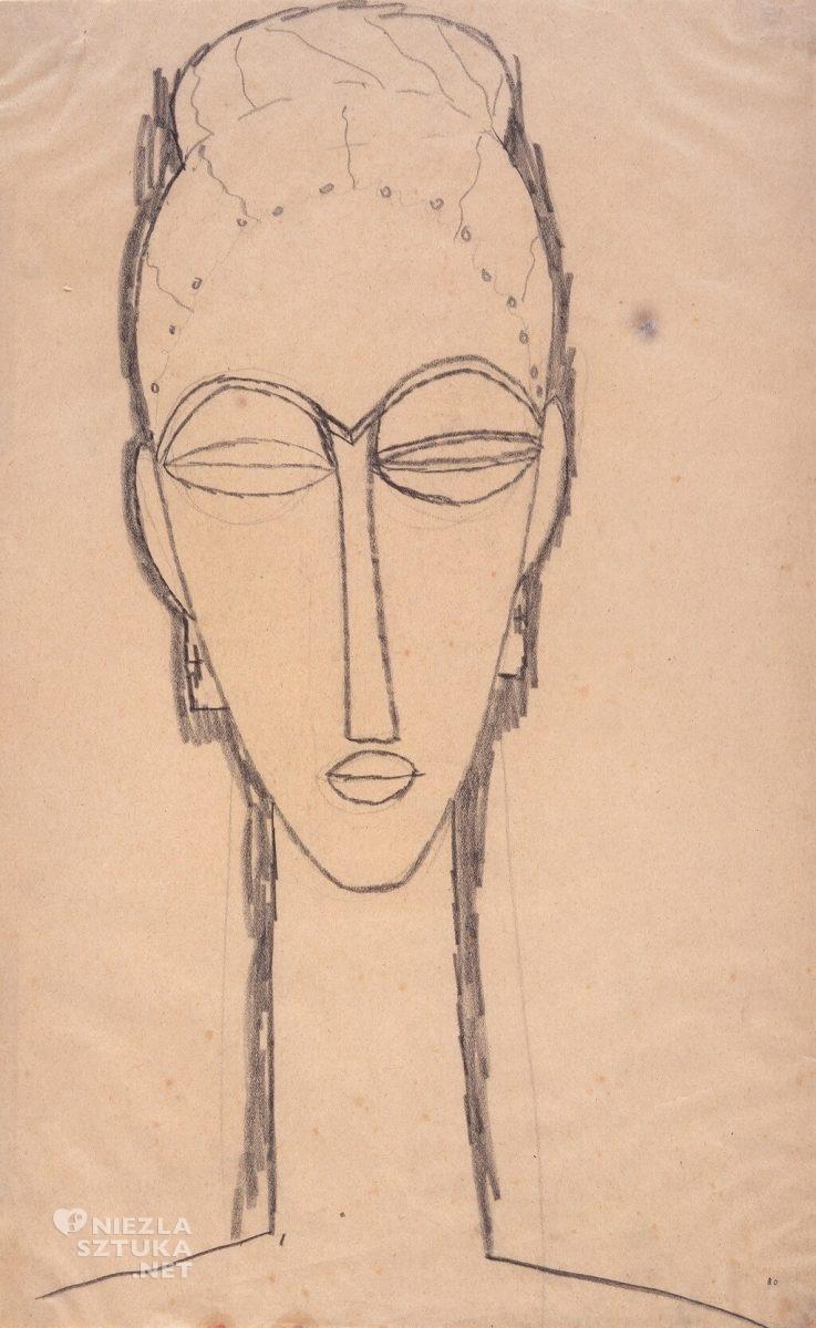 Amedeo Modigliani, szkic do rzeźby, Niezła sztuka