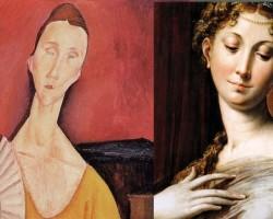 Amedeo Modigliani, Kobieta z wachlarzem, Lunia Czechowska, portret, Ecole de Paris, Niezła sztuka