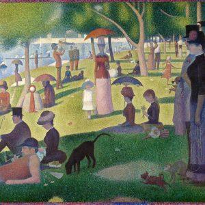 Georges Seurat, Niedzielne popołudnie na wyspie Grand Jatte, puentylizm, postimpresjonizm, Niezła Sztuka